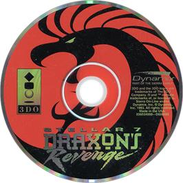 Artwork on the Disc for Stellar 7: Draxon's Revenge on the Panasonic 3DO.