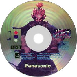 Artwork on the Disc for Super Street Fighter II Turbo on the Panasonic 3DO.