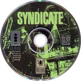Artwork on the Disc for Syndicate on the Panasonic 3DO.