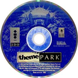 Artwork on the Disc for Theme Park on the Panasonic 3DO.