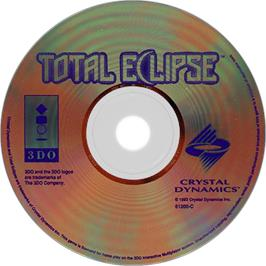 Artwork on the Disc for Total Eclipse on the Panasonic 3DO.