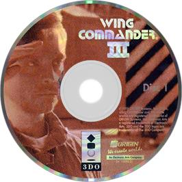 Artwork on the Disc for Wing Commander III: Heart of the Tiger on the Panasonic 3DO.