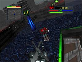 In game image of Blade Force on the Panasonic 3DO.