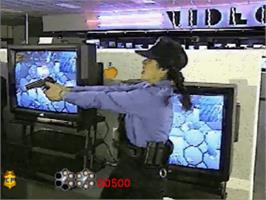 In game image of Crime Patrol v1.4 on the Panasonic 3DO.
