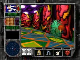In game image of Cyberdillo on the Panasonic 3DO.