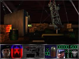 In game image of Demolition Man on the Panasonic 3DO.