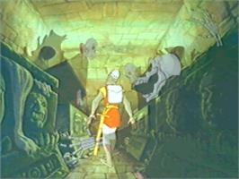 In game image of Dragon's Lair on the Panasonic 3DO.
