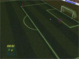 In game image of FIFA International Soccer on the Panasonic 3DO.