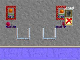 In game image of Incredible Machine on the Panasonic 3DO.