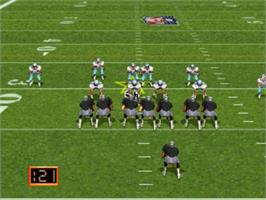 In game image of John Madden Football '93 on the Panasonic 3DO.