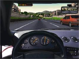 In game image of Need for Speed on the Panasonic 3DO.