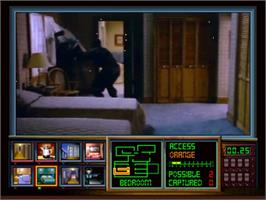 In game image of Night Trap on the Panasonic 3DO.