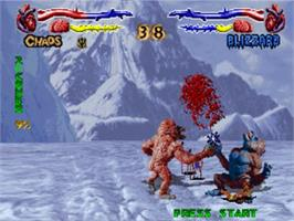 In game image of Primal Rage on the Panasonic 3DO.
