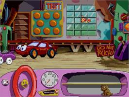 In game image of Putt-Putt Goes to the Moon on the Panasonic 3DO.