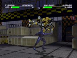 In game image of Rise of the Robots on the Panasonic 3DO.