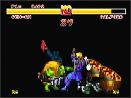 In game image of Samurai Shodown / Samurai Spirits on the Panasonic 3DO.