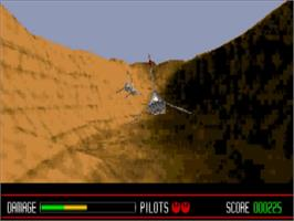 In game image of Star Wars: Rebel Assault on the Panasonic 3DO.