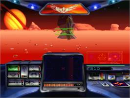 In game image of Stellar 7: Draxon's Revenge on the Panasonic 3DO.