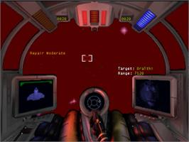 In game image of Super Wing Commander on the Panasonic 3DO.