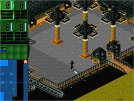 In game image of Syndicate on the Panasonic 3DO.
