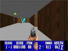 In game image of Wolfenstein 3D on the Panasonic 3DO.