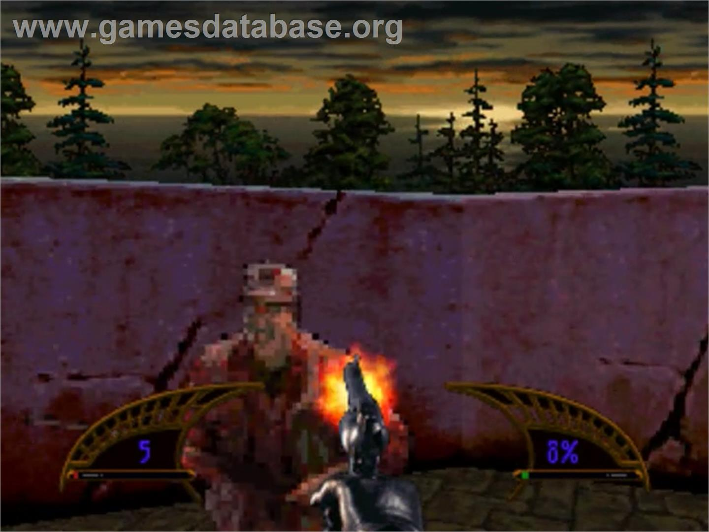 In game image of Killing Time on the Panasonic 3DO.