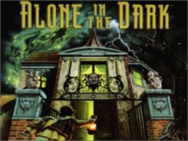 Title screen of Alone in the Dark on the Panasonic 3DO.