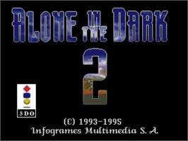 Title screen of Alone in the Dark 2 on the Panasonic 3DO.
