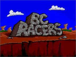 Title screen of BC Racers on the Panasonic 3DO.