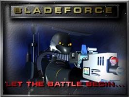 Title screen of Blade Force on the Panasonic 3DO.