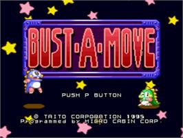 Title screen of Bust a Move on the Panasonic 3DO.