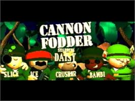 Title screen of Cannon Fodder on the Panasonic 3DO.