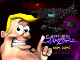 Title screen of Captain Quazar on the Panasonic 3DO.
