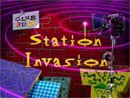 Title screen of Club 3DO: Station Invasion on the Panasonic 3DO.