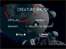 Title screen of Creature Shock on the Panasonic 3DO.