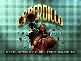 Title screen of Cyberdillo on the Panasonic 3DO.