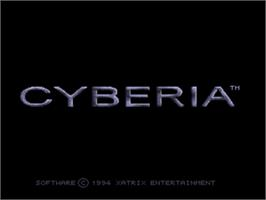 Title screen of Cyberia on the Panasonic 3DO.