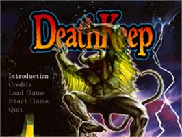 Title screen of Deathkeep on the Panasonic 3DO.