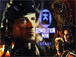 Title screen of Demolition Man on the Panasonic 3DO.
