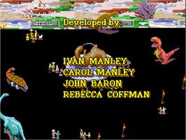Title screen of Dinopark Tycoon on the Panasonic 3DO.
