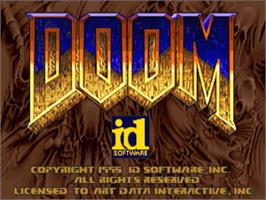 Title screen of Doom on the Panasonic 3DO.