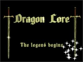 Title screen of Dragon Lore: The Legend Begins on the Panasonic 3DO.