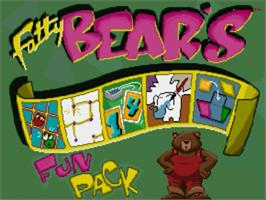 Title screen of Fatty Bear's Fun Pack on the Panasonic 3DO.