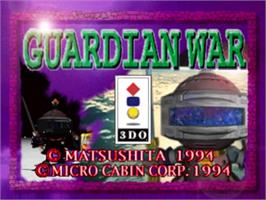 Title screen of Guardian War on the Panasonic 3DO.