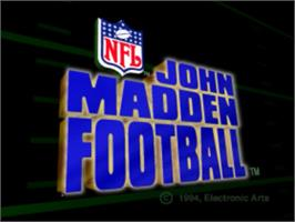 Title screen of John Madden Football '93 on the Panasonic 3DO.