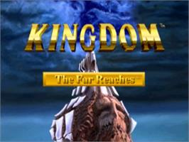 Title screen of Kingdom: The Far Reaches on the Panasonic 3DO.