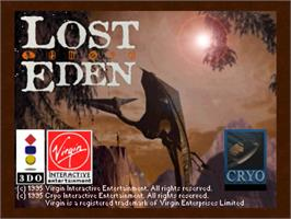 Title screen of Lost Eden on the Panasonic 3DO.