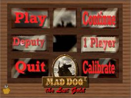 Title screen of Mad Dog II: The Lost Gold v2.04 on the Panasonic 3DO.