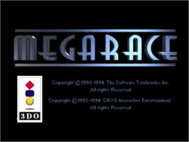 Title screen of MegaRace on the Panasonic 3DO.
