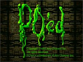 Title screen of PO'ed on the Panasonic 3DO.